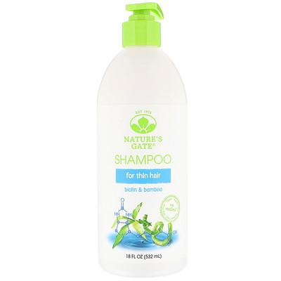 Nature's Gate 生物素 + 竹洗髮水,18 液體盎司(532 毫升)