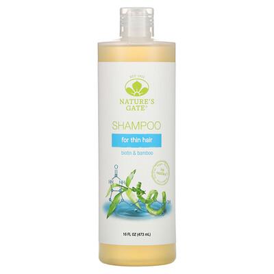 Купить Nature's Gate шампунь для тонких волос, с биотином и бамбуком, 473мл (16жидк.унций)