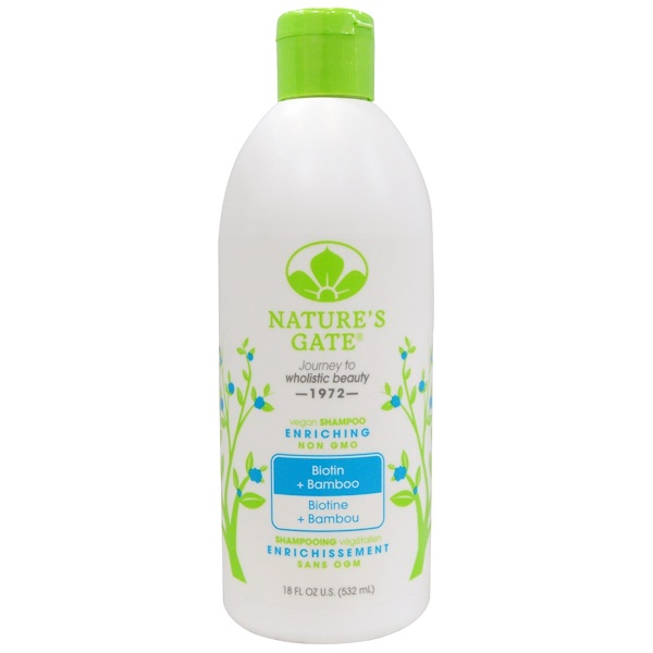 Nature's Gate, Shampoo, Enriching, Vegan, Biotin + Bamboo, 18 fl oz (532 ml)