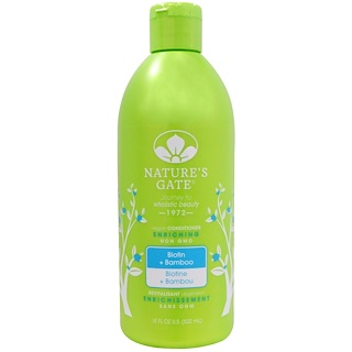 Nature's Gate, Conditioner, Enriching, Vegan, Biotin + Bamboo, 18 fl oz (532 ml)
