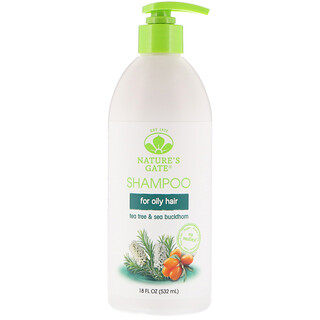 Nature's Gate, Shampoo, Tea Tree + Sea Buckthorn, 18 fl oz (532 ml)