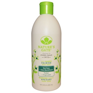 Nature's Gate, Shampoo, Calming, Vegan, Tea Tree + Sea Buckthorn, 18 fl oz (532 ml)