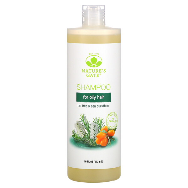 Nature's Gate, Tea Tree & Sea Buckthorn Shampoo for Oily Hair, 16 fl oz (473 ml)