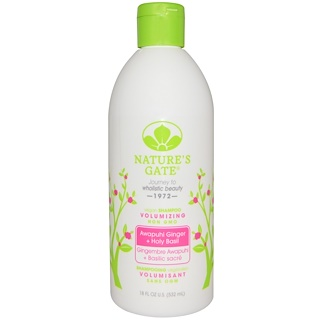 Nature's Gate, Shampoo, Volumizing, Vegan, Awapuhi Ginger + Holy Basil, 18 fl oz (532 ml)