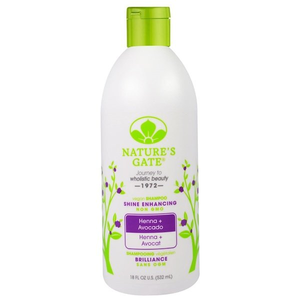 Nature's Gate, Shine Enhancing Shampoo, Henna + Avocado, 18 fl oz (532 ml) (Discontinued Item)