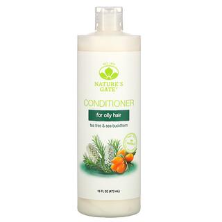 Nature's Gate, Après-shampooing au tea tree et à l'argousier pour cheveux gras, 473ml