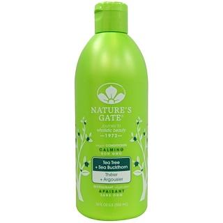 Nature's Gate, Calming Conditioner, Vegan, Tea Tree + Sea Buckthorn, 18 fl oz (532 ml)