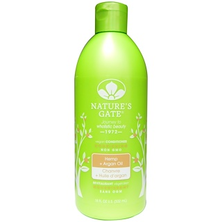 Nature's Gate, Conditioner, Nourishing, Hemp + Argan Oil, 18 fl oz (532 ml)