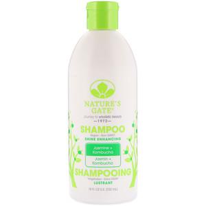 Натурес гате, Shampoo, Shine Enhancing, Jasmine + Kombucha, 18 fl oz (532 ml) отзывы покупателей