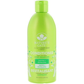 Nature's Gate, Conditioner, Shine Enhancing, Jasmine & Kombucha, 18 fl oz (532 ml)