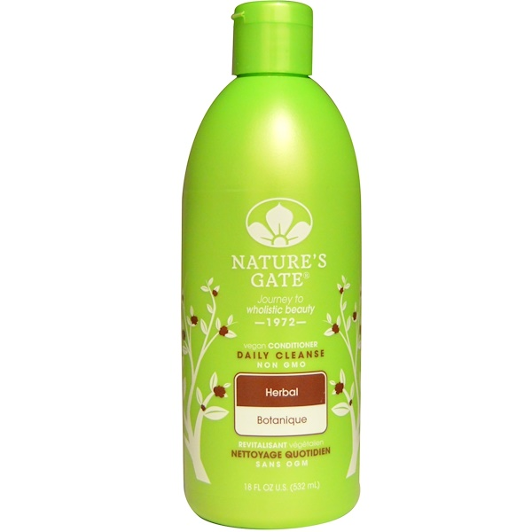 Nature's Gate, Conditioner, Daily Cleanse, Vegan, Herbal, 18 fl oz (532 ml)