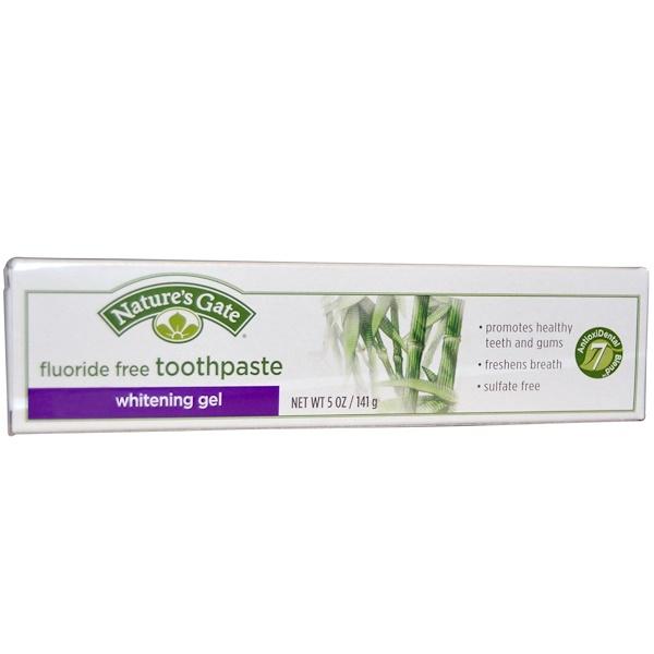 Nature's Gate, Whitening Gel Toothpaste, Fluoride Free, 5 oz (141 g)