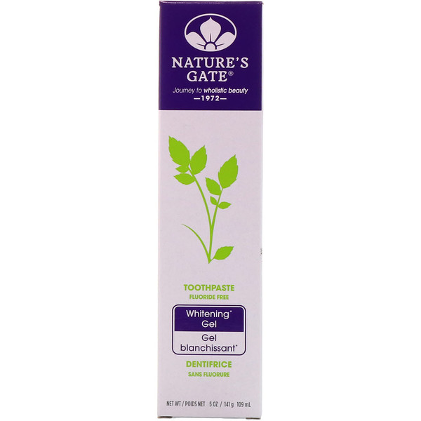 Nature's Gate, Toothpaste, Fluoride Free, Whitening Gel, 5 oz (141 g) (Discontinued Item)