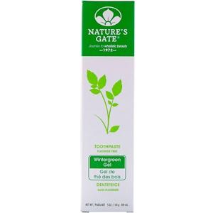Натурес гате, Toothpaste, Fluoride Free, Wintergreen Gel, 5 oz (141 g) отзывы