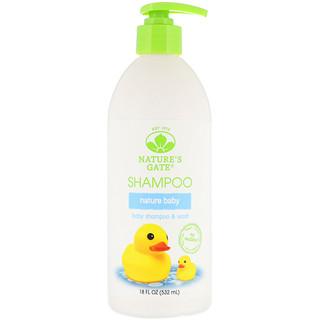 Nature's Gate, Nature Baby, Xampu e Sabonete para Bebês, frasco de 18 oz (532 ml)