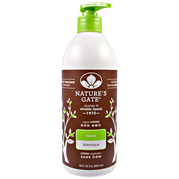 Nature's Gate, Lotion, Herbal, 18 fl oz (532 ml) (Discontinued Item)