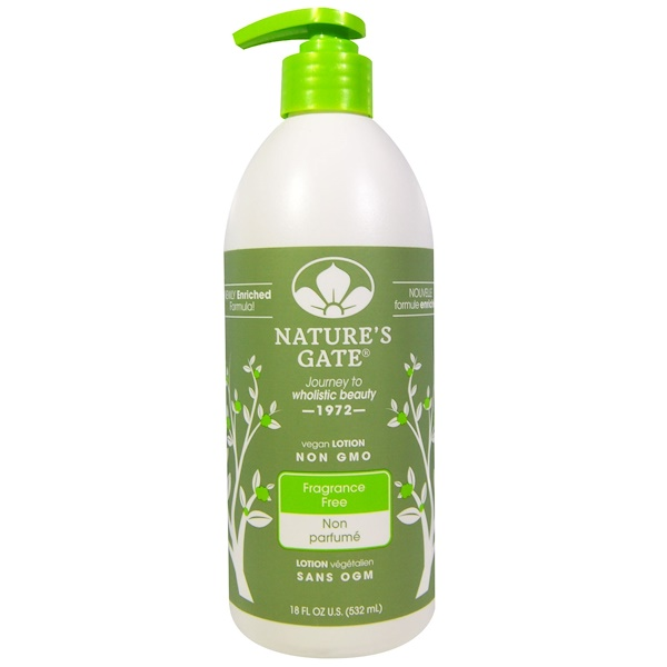 Nature's Gate, Body Lotion, Fragrance Free, 18 fl oz (532 ml) (Discontinued Item)