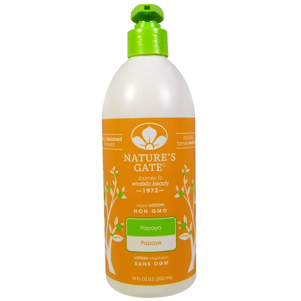 Nature's Gate, Lotion, Papaya, 18 fl oz (532 ml)