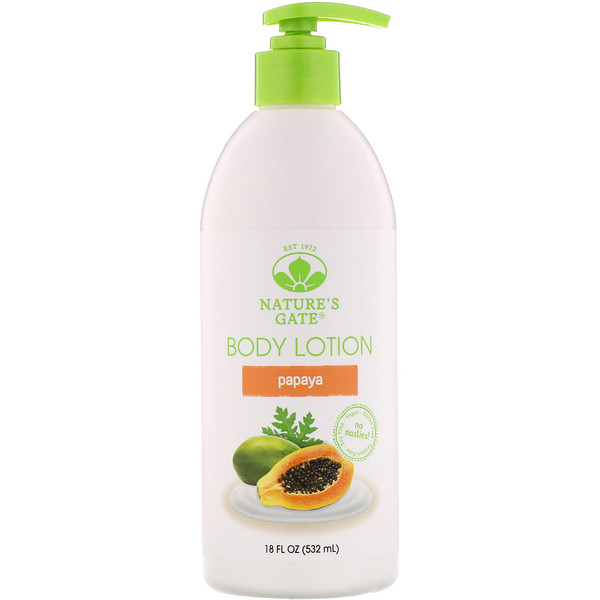 Nature's Gate, Body Lotion, Papaya, 18 fl oz (532 ml)