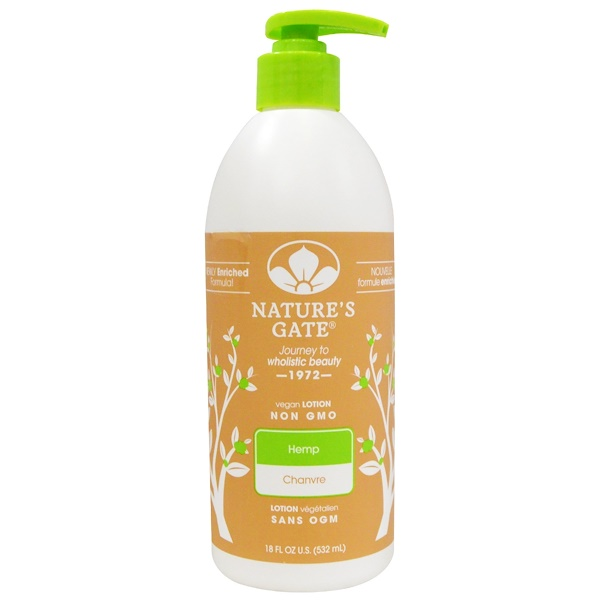 Nature's Gate, Lotion, Hemp, 18 fl oz (532 ml) (Discontinued Item)