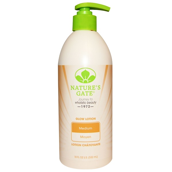 Nature's Gate, Glow Lotion, Medium, 18 fl oz (532 ml) (Discontinued Item)