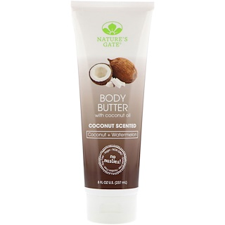 Nature's Gate, Body Butter, Coconut Scented, 8 fl oz (237 ml)