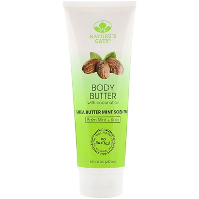 Nature's Gate Body Butter, Shea Butter Mint Scented, 8 fl oz (237 ml)