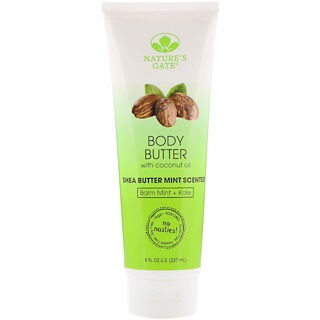 Nature's Gate, Body Butter, Shea Butter Mint Scented, 8 fl oz (237 ml)