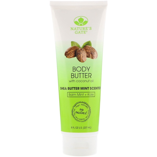 Body Butter, Shea Butter Mint Scented, 8 fl oz (237 ml)