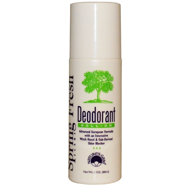 Nature's Gate, Deodorant, Roll-On, Spring Fresh Scent, 3 oz (88 ml) (Discontinued Item)