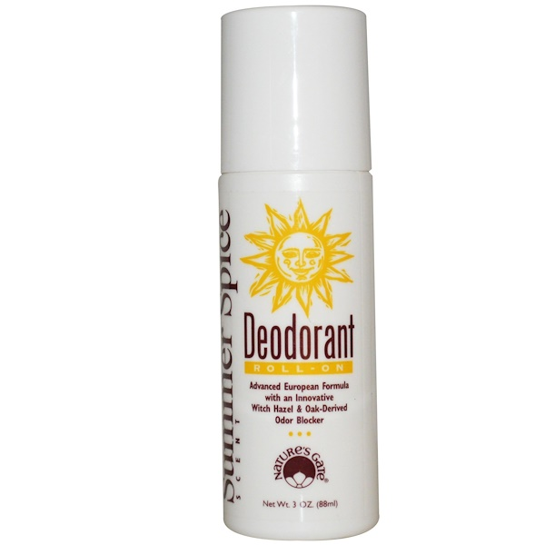 Nature's Gate, Deodorant, Roll-On, Summer Spice Scent, 3 oz (88 ml) (Discontinued Item)