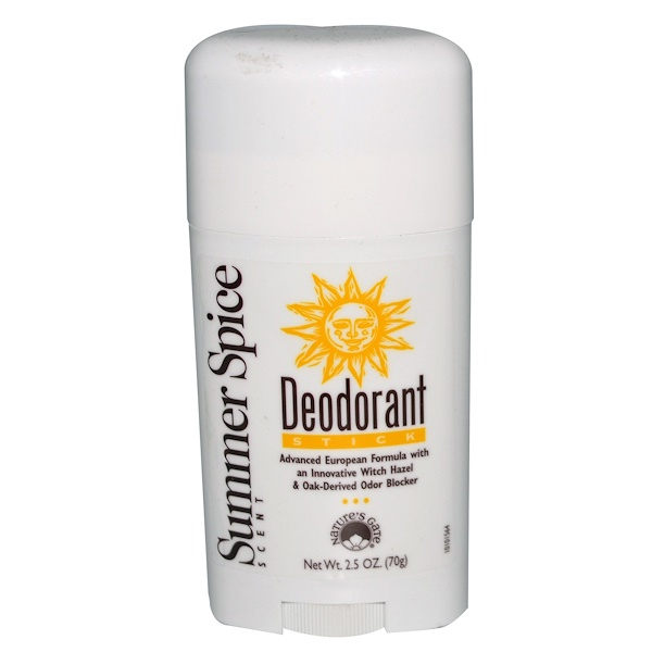 Nature's Gate, Deodorant Stick, Summer Spice Scent, 2.5 oz (70g) (Discontinued Item)