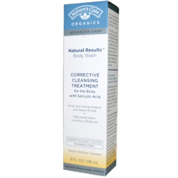 Nature's Gate, Organics, Advanced Care, Natural Results Body Wash, 8 fl oz (236 ml) (Discontinued Item)