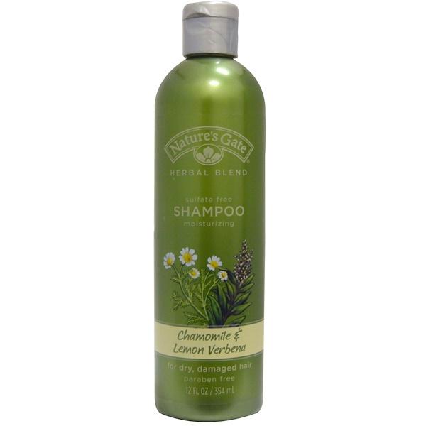 Nature's Gate, Shampoo, For Dry, Damaged Hair, Chamomile & Lemon Verbena, 12 fl oz (354 ml) (Discontinued Item)