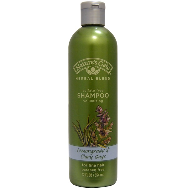 Nature's Gate, Shampoo, Volumizing, Lemongrass & Clary Sage, 12 fl oz (354 ml) (Discontinued Item)