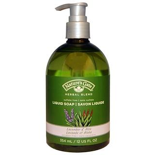 Nature's Gate, Herbal Blend, Liquid Soap, Lavender & Aloe, 12 fl oz (354 ml)
