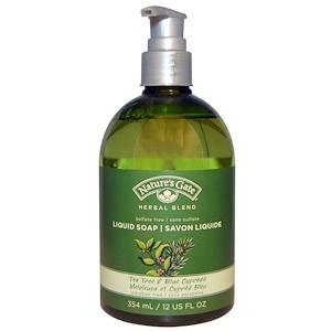 Натурес гате, Herbal Blend, Liquid Soap, Tea Tree & Blue Cypress, 12 fl oz (354 ml) отзывы