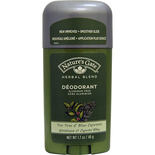 Nature's Gate, Deodorant, Herbal Blend, Tea Tree & Blue Cypress, 1.7 oz (48 g)