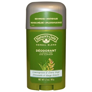 Nature's Gate, Deodorant, Herbal Blend, Lemongrass & Clary Sage, 1.7 oz (48 g)