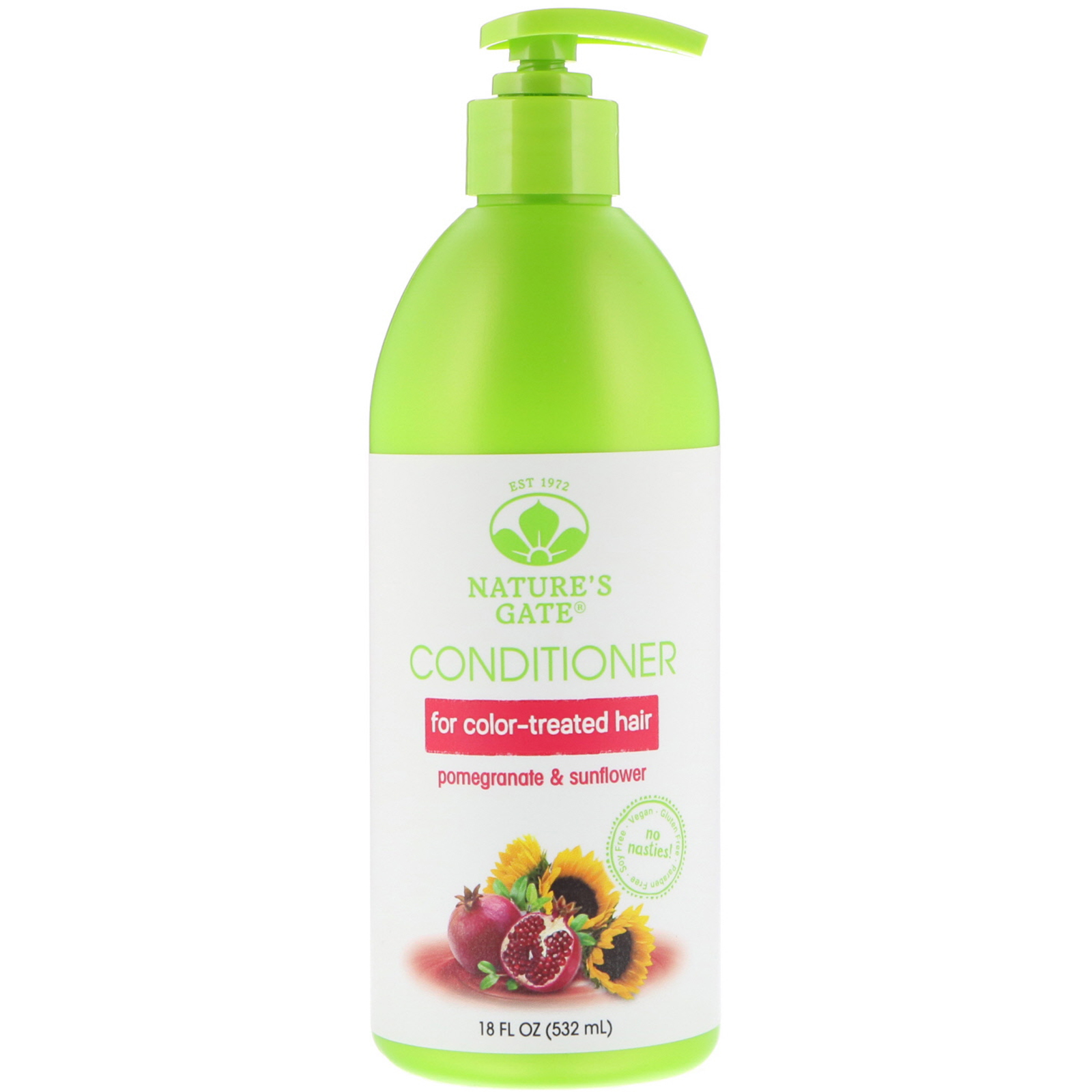 Natures Gate Pomegranate Sunflower Conditioner For Color