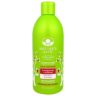 Nature's Gate, 헤어 디펜스 비건 컨디셔너(Hair Defense Vegan Conditioner),석류+해바라기 (Pomegranate + Sunflower), 18 fl oz (532 ml)