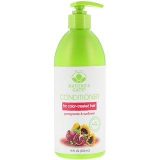 Nature's Gate, Conditioner, Pomegranate & Sunflower, For Color-Treated Hair, 18 fl oz (532 ml)