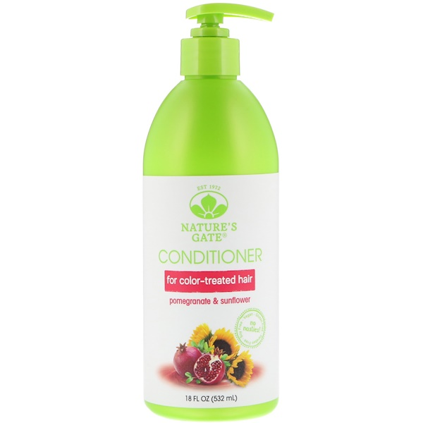 Nature's Gate, Conditioner, Pomegranate & Sunflower, For Color-Treated Hair, 18 fl oz (532 ml) (Discontinued Item)