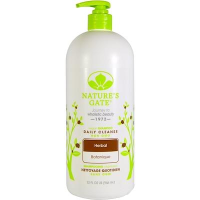 Nature's Gate 洗髮水,每日清洗,草本,32 液量盎司(946 毫升)