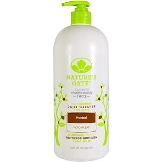 Nature's Gate, Shampoo, Daily Cleanse, Vegan, Herbal, 32 fl oz (946 ml)
