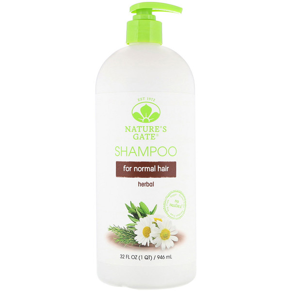Nature's Gate, Shampoo, For Normal Hair, Herbal, 32 fl oz (946 ml) (Discontinued Item)