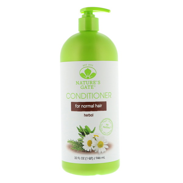 Nature's Gate, Conditioner, Herbal, For Normal Hair, 32 fl oz (946 ml) (Discontinued Item)