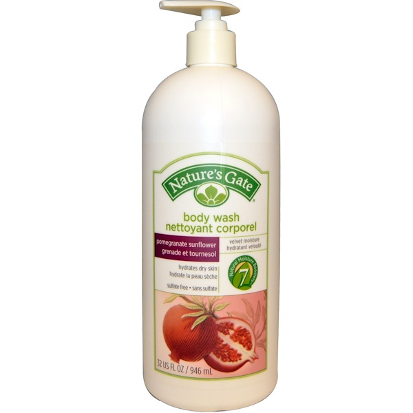 Nature's Gate, Body Wash, Pomegranate Sunflower, 32 fl oz (946 ml)