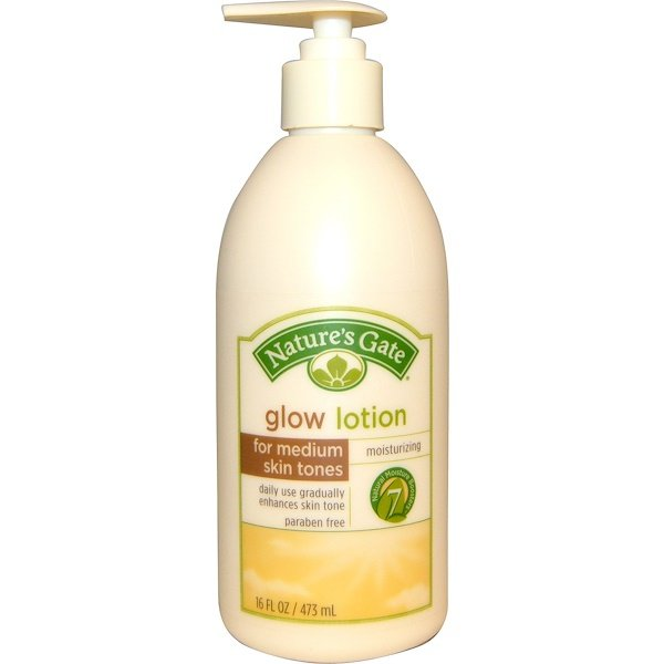 Nature's Gate, Glow Lotion, Moisturizing, For Medium Skin Tones, 16 fl oz (473 ml) (Discontinued Item)