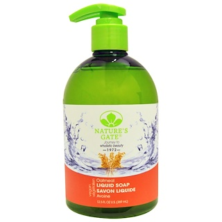 Nature's Gate, Liquid Soap, Oatmeal, 12.5 fl oz (369 ml)